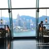 【香港旅遊】浪漫情調♥最棒夜景酒吧餐廳Aqua♥米其林二星夜上海♥甜品LADY M♥和亮亮天使團隊吃喝玩樂