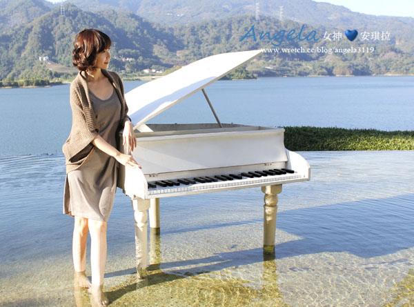 【休閒】佇立在湖中的鋼琴。勻淨湖之美