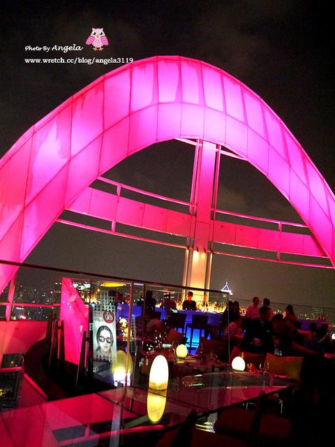 【曼谷】越夜越美麗的Red Sky Bangkok。紅色天空景觀餐廳