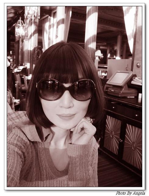 巴黎Cafe de la Paix VS我的黑白拍