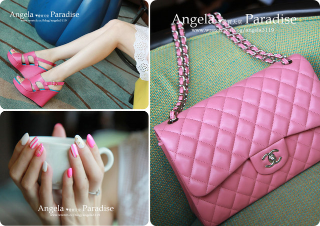 【Shopping】粉紅控。CHANEL Pink 2.55 開箱 Vs. Bonbons 美鞋